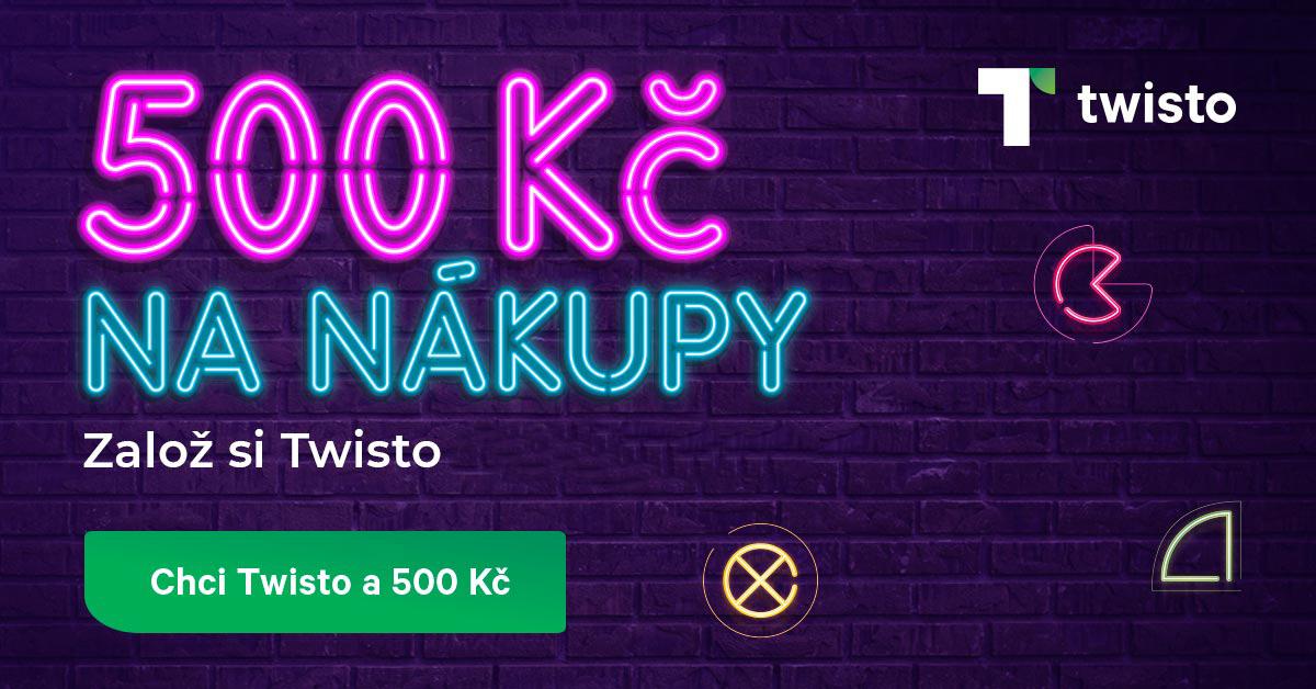 Twisto bonus 500 Kč