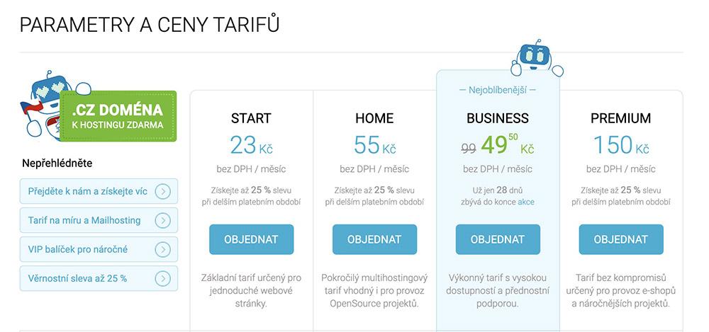 ONEbit - tarify