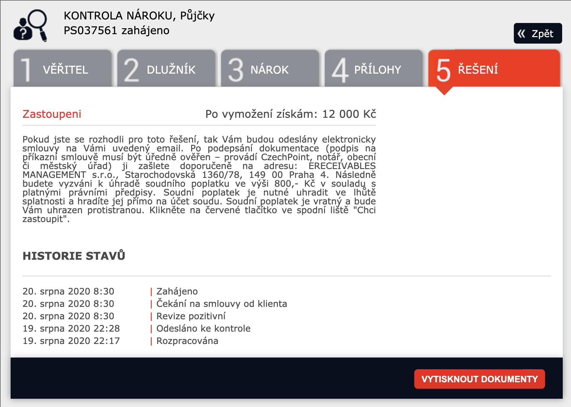 epohledavky.cz - smlouva