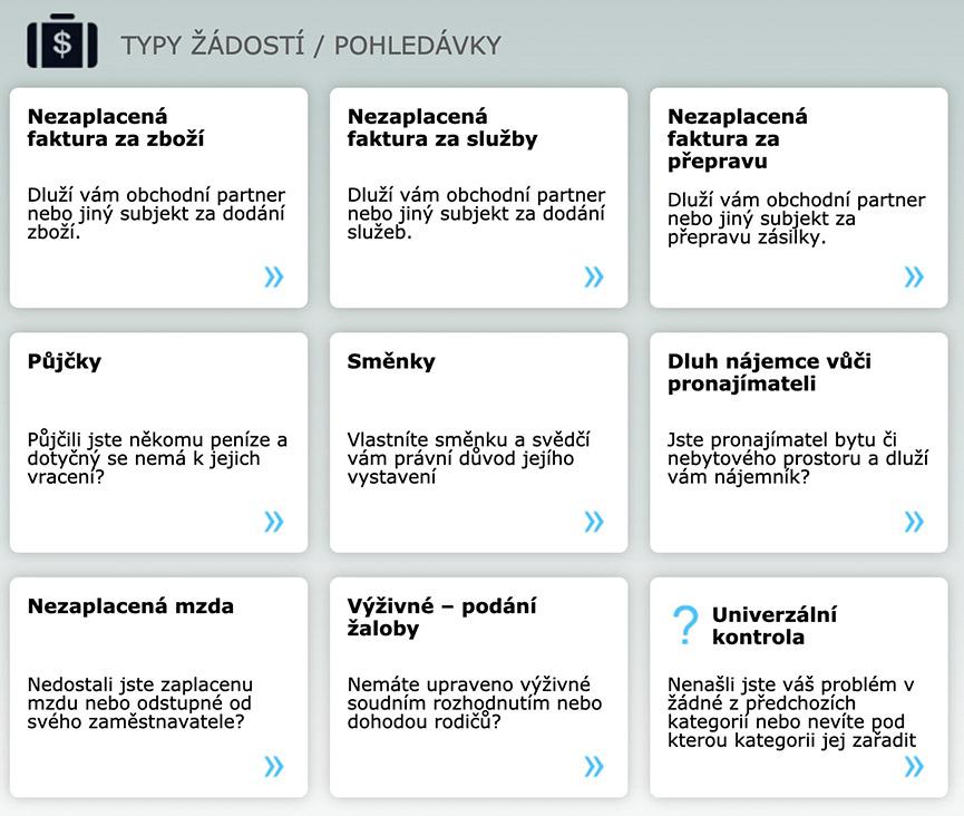 epohledavky.cz - typ žádosti