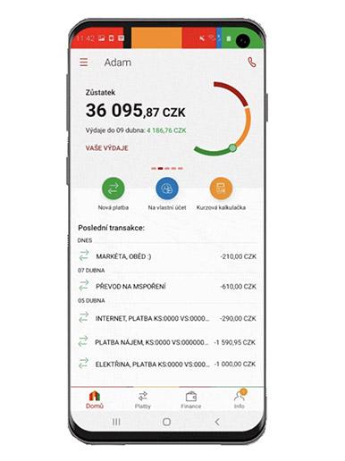 Mobilní appka mBank