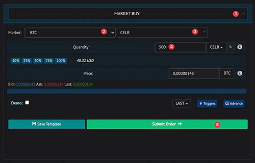 TrailingCrypto - market buy